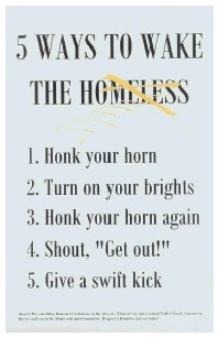anon. - 5 Ways to Wake the Homeless